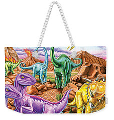 Rocky Mountain Dinos Weekender Tote Bag by Mark Gregory