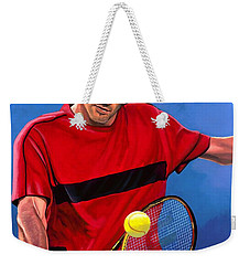 Roger Federer The Swiss Maestro Weekender Tote Bag by Paul Meijering