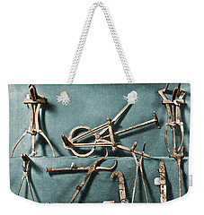 Weekender Tote Bag featuring the photograph Roman Surgical Instruments, 1st Century by Science Source