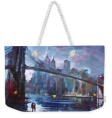 Romance By East River II Weekender Tote Bag by Ylli Haruni