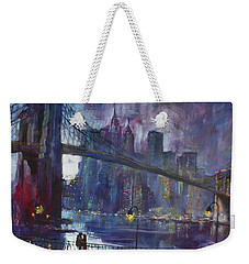 Romance By East River Nyc Weekender Tote Bag by Ylli Haruni
