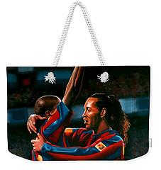 Ronaldinho And Eto'o Weekender Tote Bag by Paul Meijering