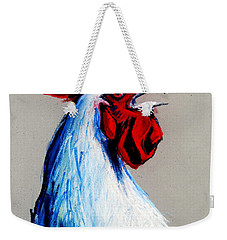 Rooster Head Weekender Tote Bag by Mona Edulesco