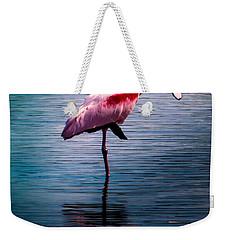 Roseate Spoonbill Weekender Tote Bag by Karen Wiles