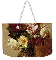 Roses Weekender Tote Bag by Ignace Henri Jean Fantin-Latour