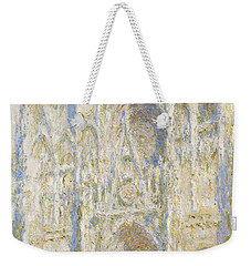 Rouen Cathedral West Facade Weekender Tote Bag by Claude Monet
