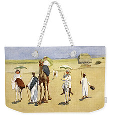 Round The Pyramids, From The Light Side Weekender Tote Bag by Lance Thackeray