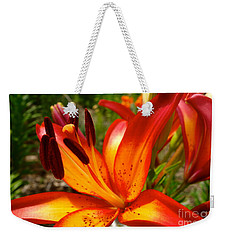 Royal Sunset Lily Weekender Tote Bag by Jacqueline Athmann