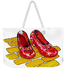 Ruby Slippers The Wizard Of Oz  Weekender Tote Bag by Irina Sztukowski