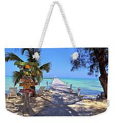Rum Point Weekender Tote Bag by Carey Chen