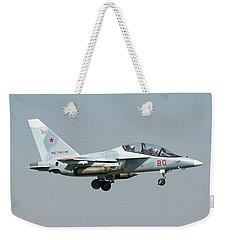 Russian Air Force Yak-130 Landing Weekender Tote Bag by Daniele Faccioli