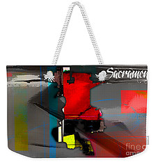 Sacramento Map Watercolor Weekender Tote Bag by Marvin Blaine