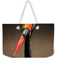 Saddle-billed Stork Portrait Weekender Tote Bag by Johan Swanepoel