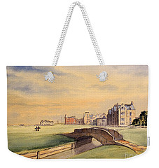 Saint Andrews Golf Course Scotland - 18th Hole Weekender Tote Bag by Bill Holkham