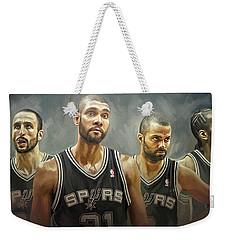 San Antonio Spurs Artwork Weekender Tote Bag by Sheraz A