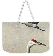 Sandhill Cranes Weekender Tote Bag by James W Johnson