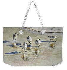 Sandpipers 2 Watercolor 5-13-12 Julianne Felton Weekender Tote Bag by Julianne Felton