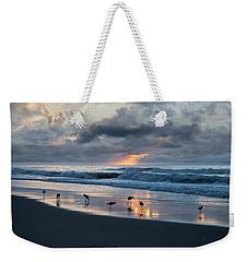 Sandpipers In Paradise Weekender Tote Bag by Betsy Knapp