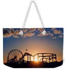 Santa Monica Pier Weekender Tote Bag by Art Block Collections