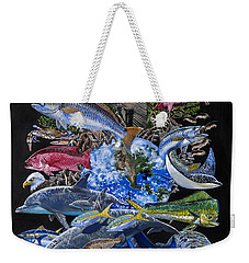 Save Our Seas In008 Weekender Tote Bag by Carey Chen