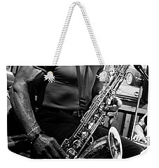 Sax In The City 2 Weekender Tote Bag by Bob Christopher