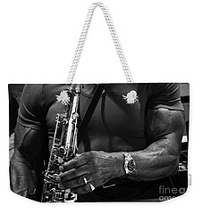 Sax In The City 4 Weekender Tote Bag by Bob Christopher