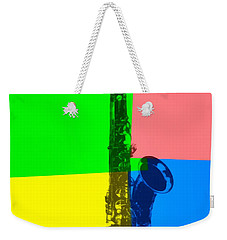 Saxophone Pop Art Weekender Tote Bag by Dan Sproul