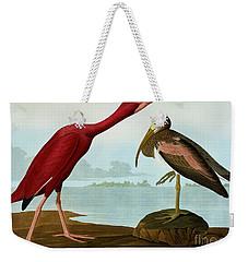 Scarlet Ibis Weekender Tote Bag by John James Audubon