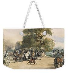 Scene In Hyde Park Weekender Tote Bag by Eugene-Louis Lami