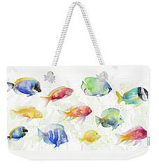 School Of Tropical Fish Weekender Tote Bag by Lanie Loreth