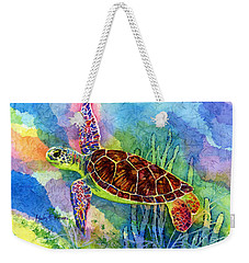 Sea Turtle Weekender Tote Bag by Hailey E Herrera