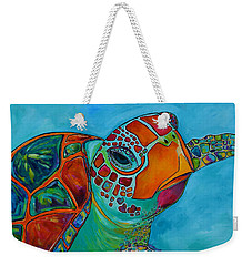 Seaglass Sea Turtle Weekender Tote Bag by Patti Schermerhorn