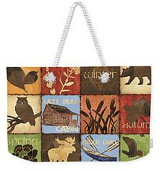 Seasons Lodge Weekender Tote Bag by Debbie DeWitt
