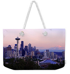 Seattle Dawning Weekender Tote Bag by Chad Dutson
