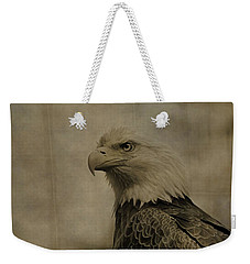 Sepia Bald Eagle Portrait Weekender Tote Bag by Dan Sproul
