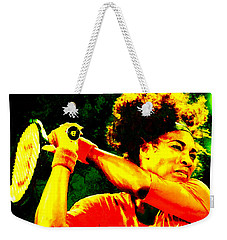 Serena Williams In A Zone Weekender Tote Bag by Brian Reaves