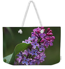 Shades Of Lilac  Weekender Tote Bag by Rona Black
