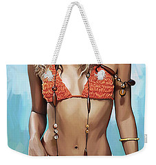 Shakira Artwork Weekender Tote Bag by Sheraz A