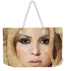 Shakira Portrait Weekender Tote Bag by Samuel Majcen