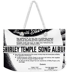 Shirley Temple Song Album Weekender Tote Bag by Mel Thompson