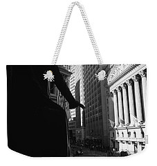 Silhouette Of George Washington Statue Weekender Tote Bag by Panoramic Images