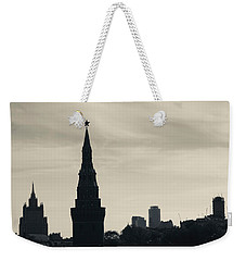 Silhouette Of Kremlin Towers, Moscow Weekender Tote Bag by Panoramic Images
