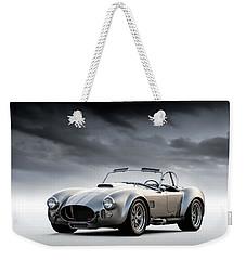 Silver Ac Cobra Weekender Tote Bag by Douglas Pittman