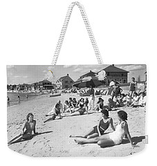 Silver Beach On Cape Cod Weekender Tote Bag by Underwood Archives