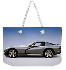 Silver Viper Weekender Tote Bag by Douglas Pittman