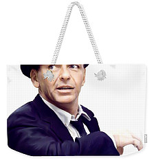 Sinatra.  Frank Sinatra Weekender Tote Bag by Iconic Images Art Gallery David Pucciarelli