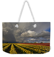 Skagit Valley Storm Weekender Tote Bag by Mike Reid