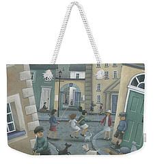 Skipping By The Green Door Weekender Tote Bag by Peter Adderley