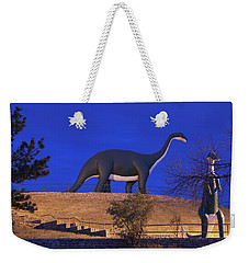 Skyline Drive Dinosaur Statues At Dawn Weekender Tote Bag by Panoramic Images