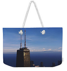 Skyscrapers In A City, Hancock Weekender Tote Bag by Panoramic Images